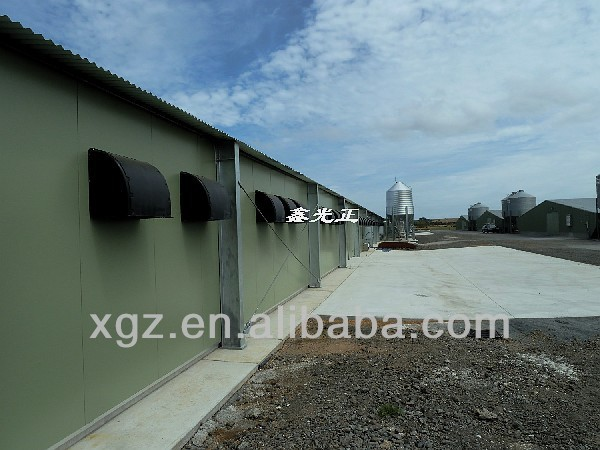 prefabricated steel structure chicken room /poultry house