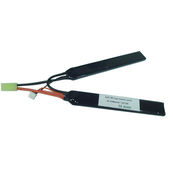 7.4V 1100mah lipo battery for gun, lithium polymer battery for airsoft