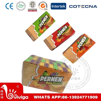permen three fruity flavour wafer biscuit buy wafer biscuit,fruity  permen three fruity flavour wafer biscuit