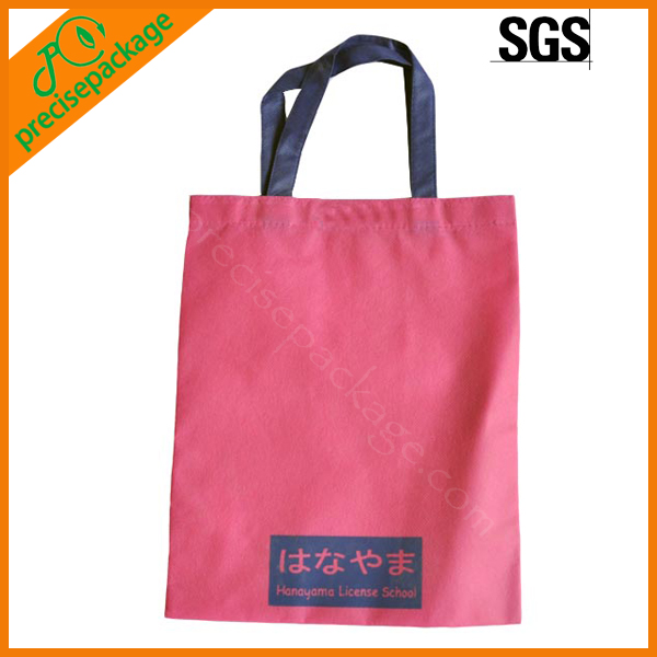 eco-friendly pink quality recycled PP Nonwoven shopping grocery bag