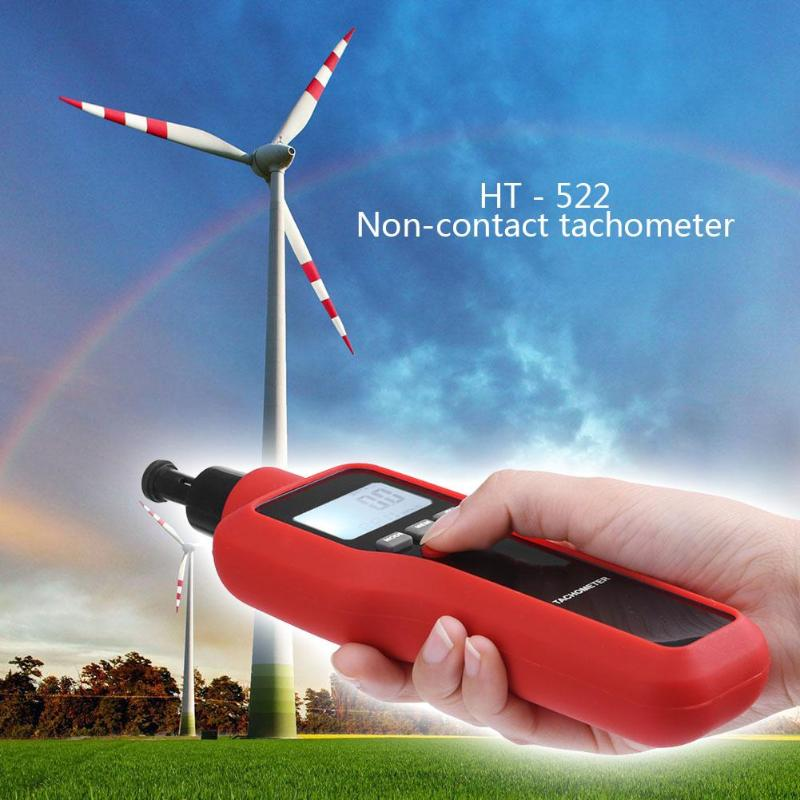 HT 522 Two in one Digital Tachometer Photoelectric  Contact  Dual use -in Speed Measuring Instruments
