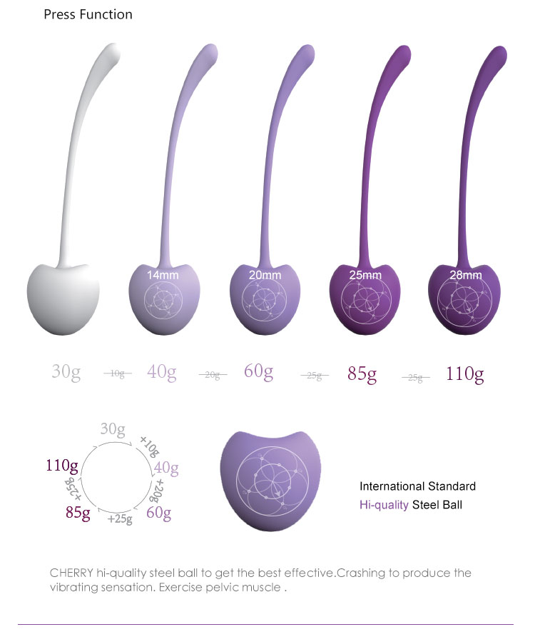 Healthy adult product different weighted kegel balls for pelvic floor muscle kegel exercise step by step