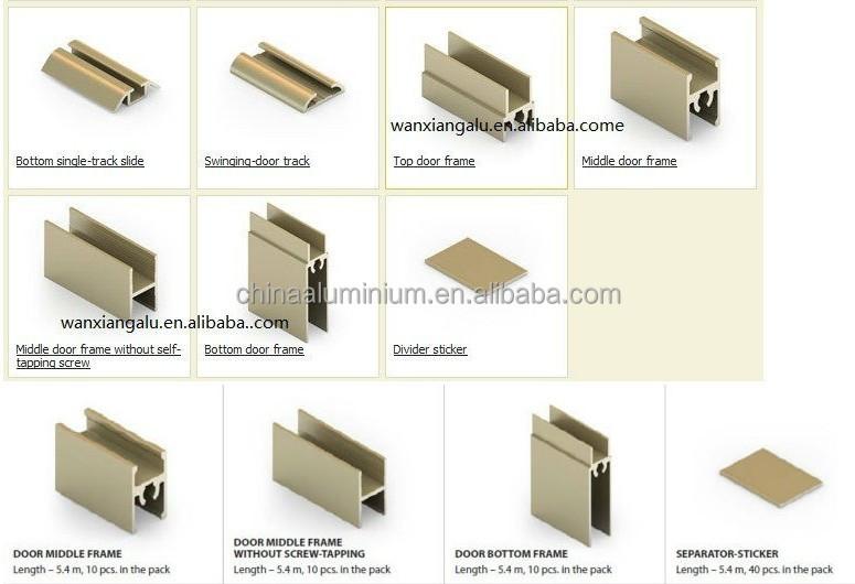 Hot salel aluminium profile sliding wardrobe door - Tipos de perfiles de aluminio ...