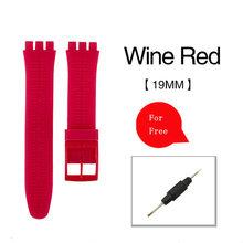 Высококачественные Аксессуары для часов, резиновый ремешок для часов для мужчин и женщин 17 мм 19 мм 20 мм, цветной резиновый ремешок с пластик...(Китай)