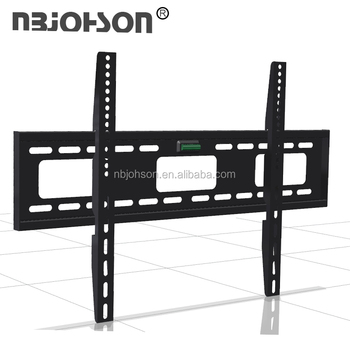 Black Fixed Tv Wall Mount Universal Lcd Led Tv Stand Support 32 To