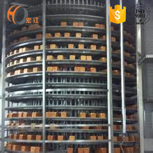 Spiral-shaped alpine conveyor design vertical incline elevator conveying equipment modular plastic belts chains freezer