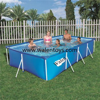 Bestway Steel Frame Above Ground Swimming Pool Rectangular Swimming ...