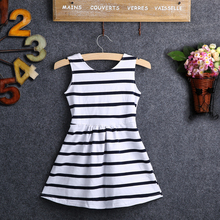Wholesale 2016 Summer Baby Kids Girls Striped font b Dress b font Party Wedding Striped BackLess