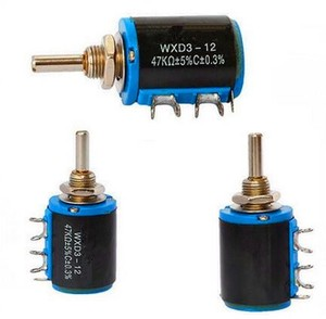 WXD3-12 5 turns 4mm shaft diameter 1K 2K 4.7K wirewound potentiometer