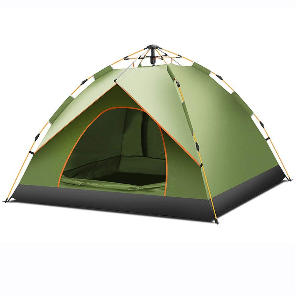 MUTANG Outdoor Automatic Rainproof Tent 3-4 People Family Camping Thick Sunscreen Camping Hydraulic Spring Tent Single Four Seasons Tent
