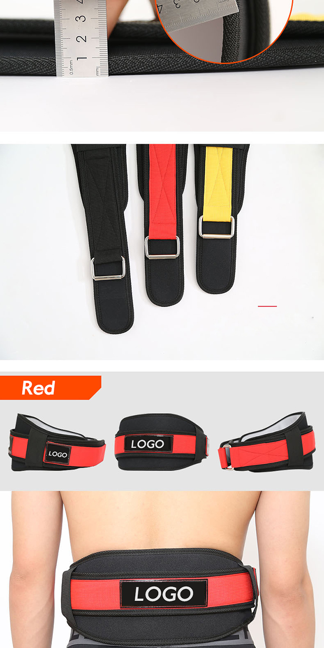Weight Lifting Belt with Double Back Support Gym Training 5 inch Wide Belts