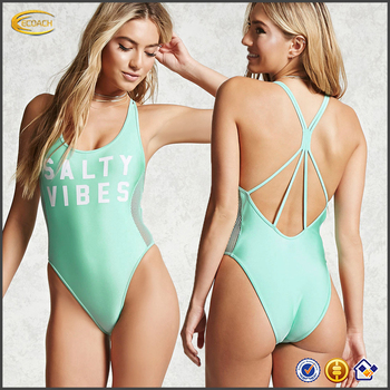 Ecoach High Quality One Pieces Swimsuit Dress Monokini Bathing Suit