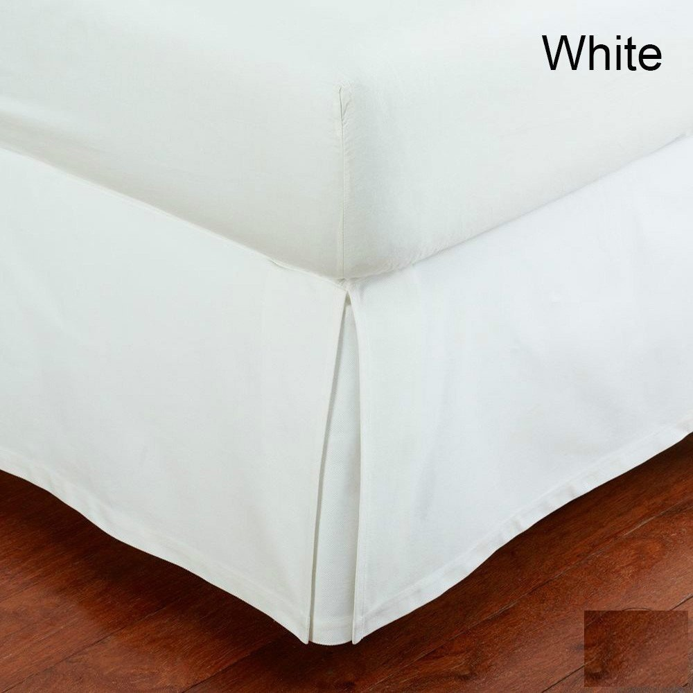 Royal Spicy Room - ( 1-PC Bed Skirt ) - Full Size Split Corners ( + 24 Inches ) Fall / Drop Length Best Selling 100% Egyptian Cotton Solid Pattern ( White Color ) Made By KN Linen ( 800 TC )