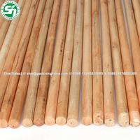 Colorful varnished painted wooden broom stick for sale