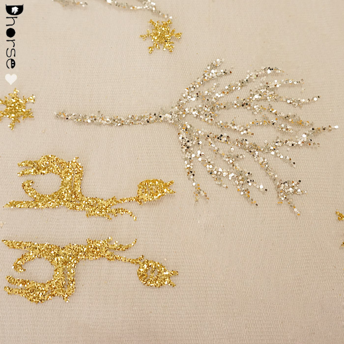 Simple Atmosphere Dress Sequin Broken Drill Lace Fabric