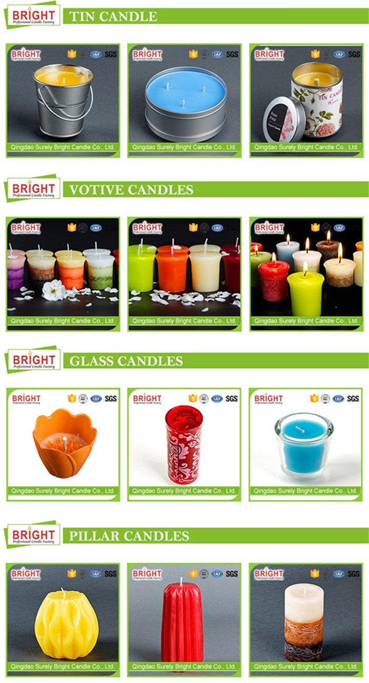 Unique Shaped Gradient Color Scented Craft Candles