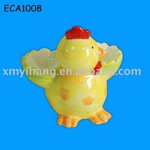 pottery chicken egg keeper