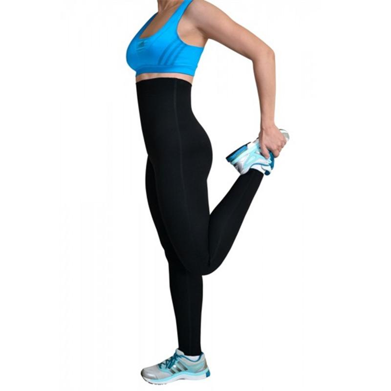 גבוהה מותן Neoprene בטן בקרת חותלות נשים ספורט זיעה הרזיה מכנסיים עם אפקט סאונה לשוקלים אובדן