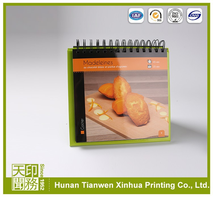 Book printing cooking food cheap colorful OEM softcover cookbook printing