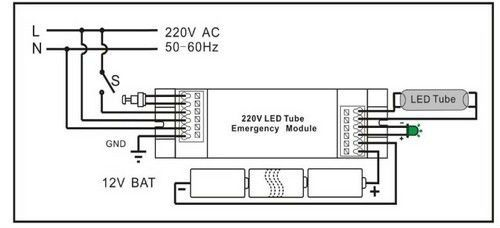 16w led emergency light inverter led emergency light 12v light wiring diagram 12v led off road light wiring diagram #5