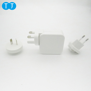 UK AU US EU Changeable Plug 5V5A Power 4 USB Ports Universal Travel Wall Charger With Smart IC