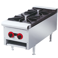 Commercial Counter Top Gas Stove Double Burner Stove