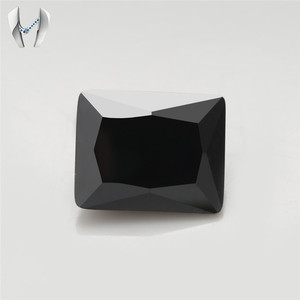 Synthetic Black Stone 10x12mm baguette cubic zirconia