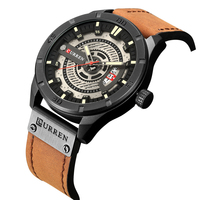 Fashion Mens Watches Curren Brand Leather Casual Sport Clock Male watches