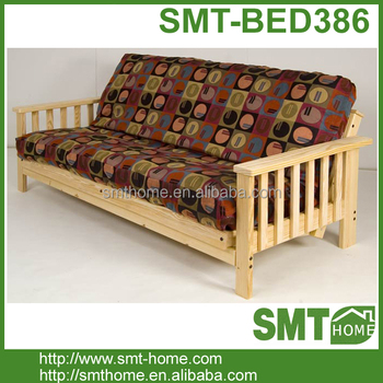 High Quality Cheap Solid Wood Futon Guest Bed Sofa