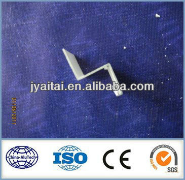 S type natural anodized extrusion aluminium profile