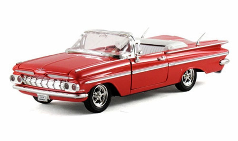 1959 Chevy Impala Convertible, Red - Arko 35911 - 1/32 Scale Diecast Model Toy Car