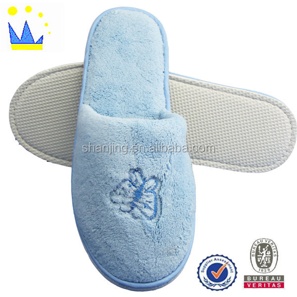 low cost winter soft house slipper customized animal