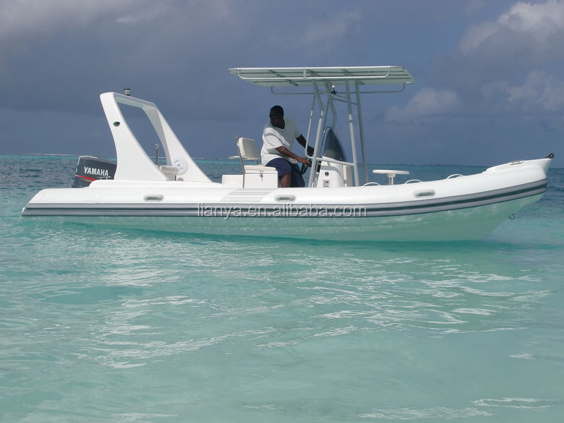 Liya 22 Feet High Speed Police Boat Outboard Engine Military Rib ...