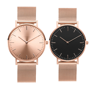 Custom cheap womens watches sport Japan movement stainless steel IP gold and black watch from China factory