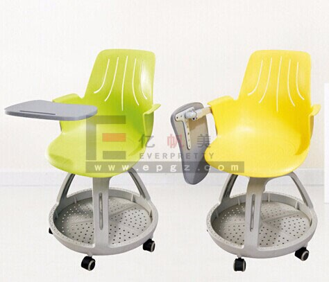 Steelcase Node Chair With Writing Pad On Wheels Swivel Training Chairs