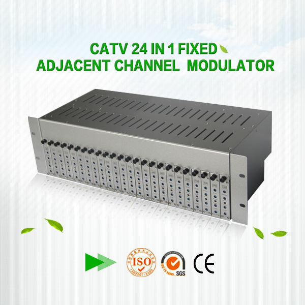 (OPT-24M)with combiner function 6.5 sound Adjacent analog 24 channles Fixed adjacent channel Combiner catv rf modulator