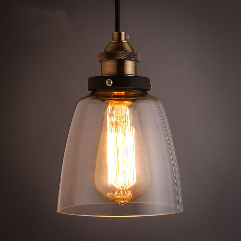 Hot Sale LEDream Grobal  Minimalist Cord Dinning Room Pendant lights American Loft Vintage Glass Pendant Lamps Glass Abajur