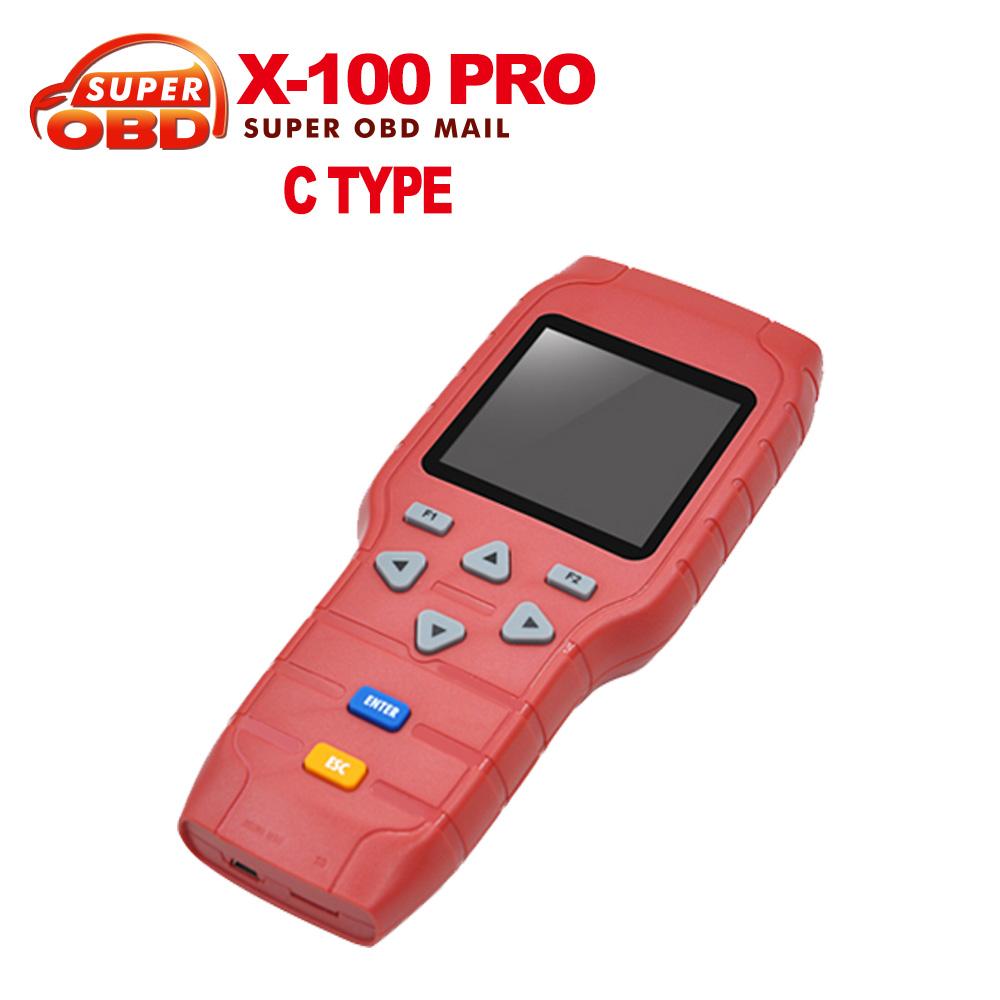 2016 горячая распродажа автоматический ключевой программер х-100 Pro C тип в том числе X200 сканер профессиональный OBD2 код сканер DHL бесплатная доставка