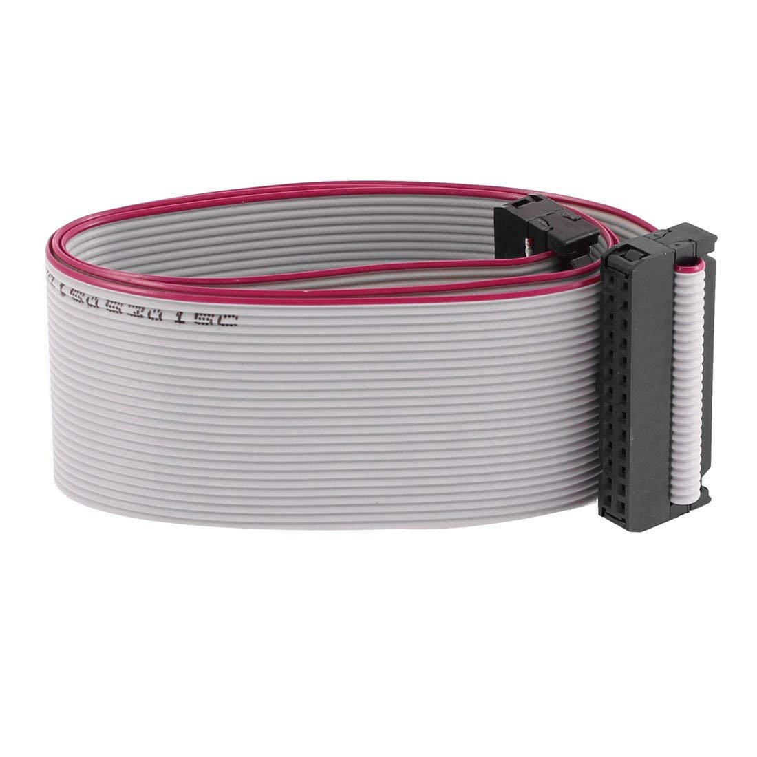 "Uxcell IDC Connector Flat Ribbon Cable, F/F, 26 Pin, 2.54 mm Pitch, 20"" Length"