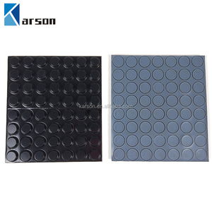 3M Sj5012 Protective Bumpon Black Silicon Rubber Dots/Top Hat Shape Silicon Rubber Gasket 3M Tape 12.7mm X 3.6mm