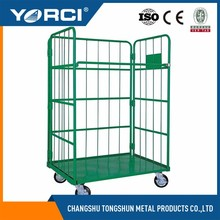 High quality platform hand truck, logistics transportion push cart /trolley price