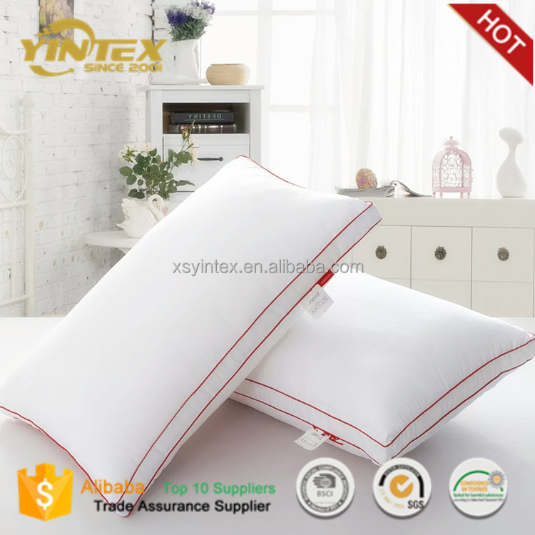 Hotels Quality Puredown Goose Down Feather Bed Pillow 100% Cotton Cover Down Pillow