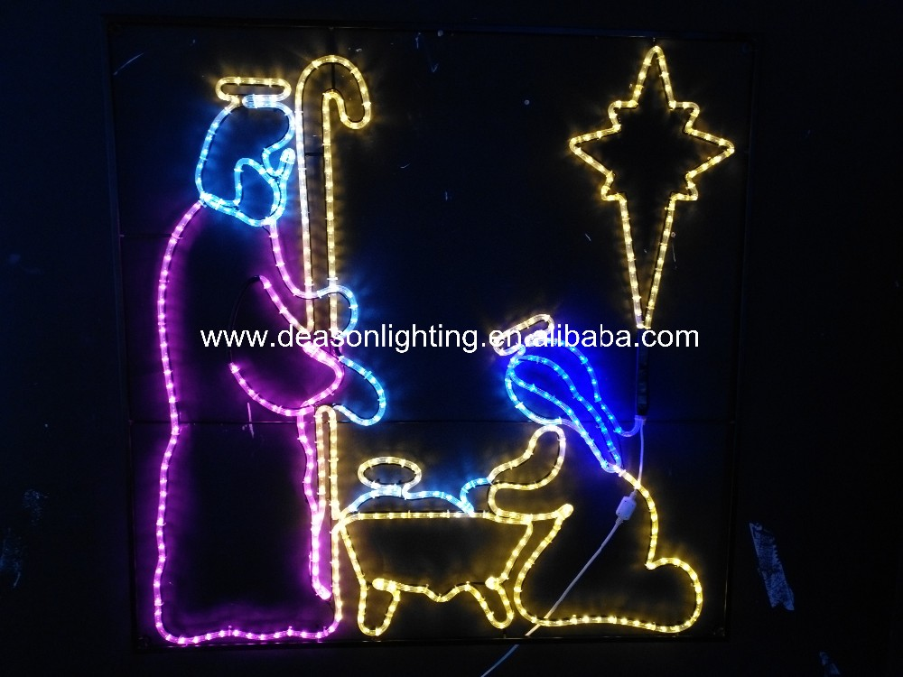 Christmas Led Jesus - Buy Jesus Christmas Lights,Juesus And Mary ...