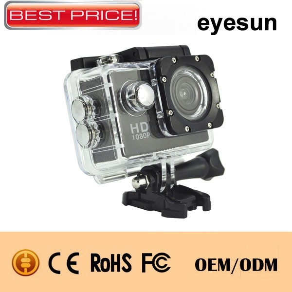 A7 1080p Action Camera with 30M Waterproof case, Most hot selling as Promotional gift in the market