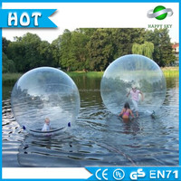 Top quality!!!0.8mm PVC inflatable water walking ball, jumbo floating water running ball, water rolling ball for sale