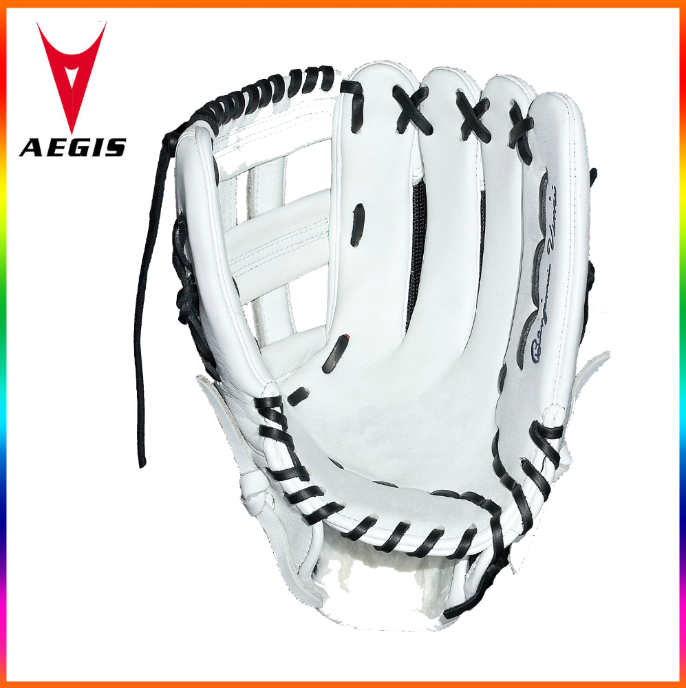 white kip leather black mesh baseball gloves genuine kip leather baseball