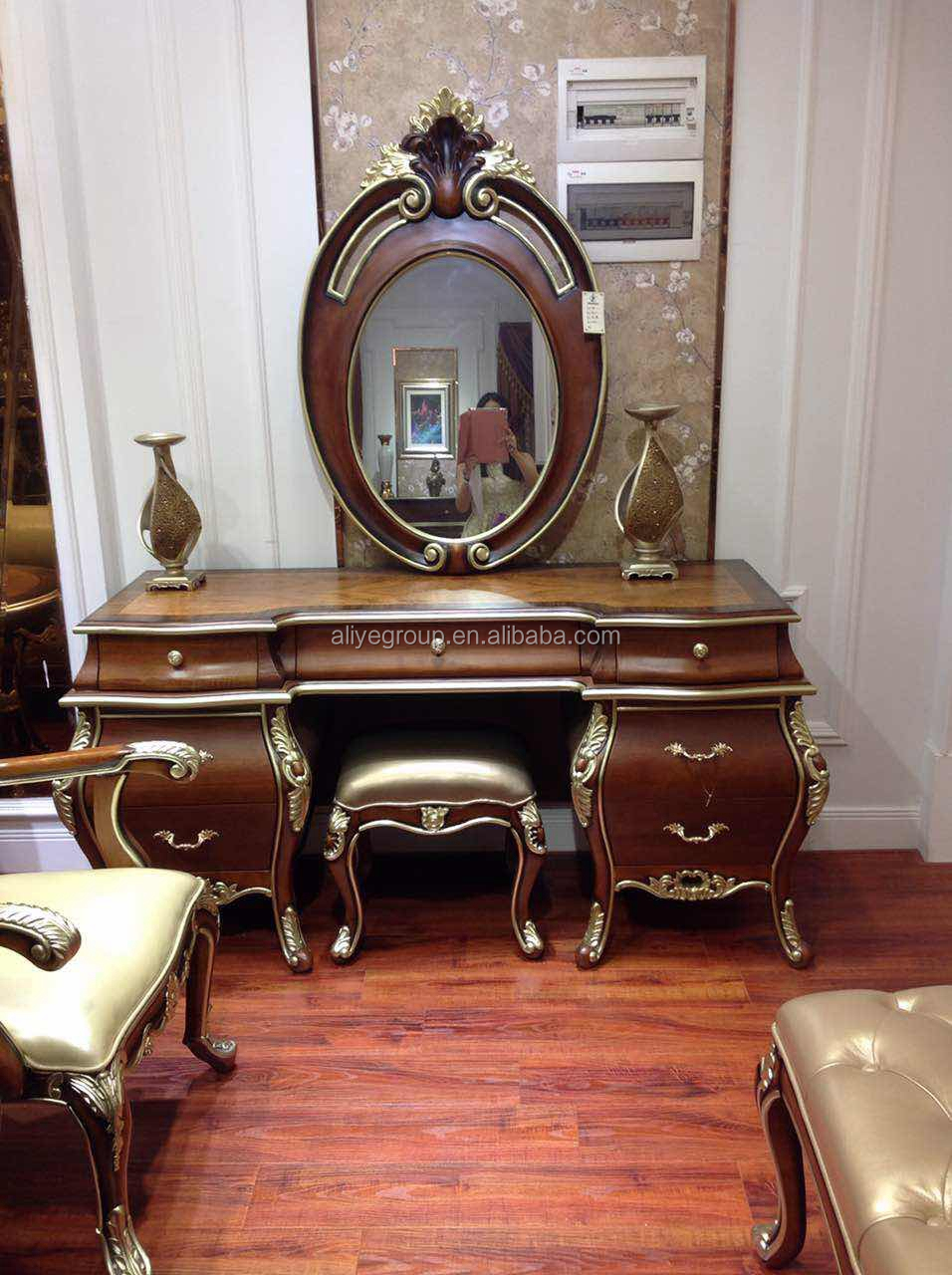 Antique Makeup Vanity Dressing Table Wholesale Large Classic Mirror Dresser Furniture Bedroom With Mirror View Dresser Table Aliye Product Details From Guangdong Luxury Homey Furniture And Interior Decoration Co Ltd On Alibaba Com