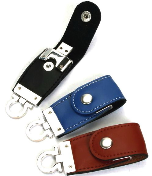 3 colors in a lot sale leather <strong>usb</strong> key 2.0 8gb for promo gift
