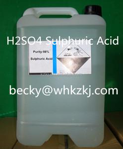 H2SO4 98% Battery Grade Sulphuric Acid Solution Industrial Grade Sulfuric  Acid Commericial Grade