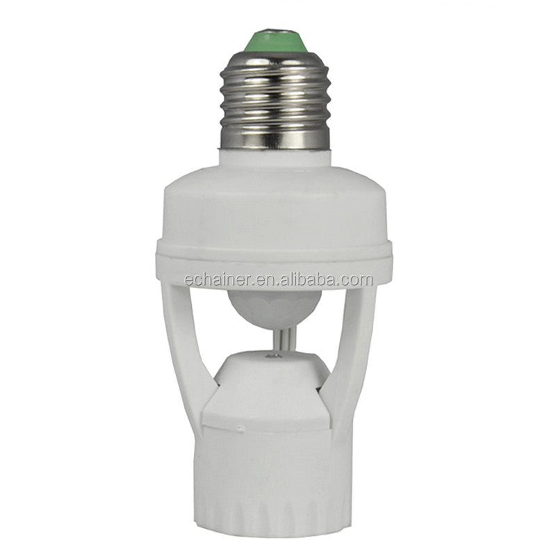 New arrival AC 220V E27 to E27 PIR Induction Motion Sensor socket E27 Plug Socket Switch Base Led Bulb light Lamp Holder